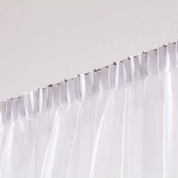 Záclona voálová jednoduchá s řasící páskou na míru 130 x 250 cm v kolekci Voile - Voál, látka: 901-00