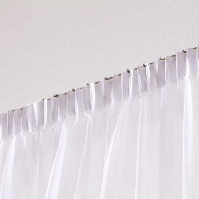 Záclona voálová jednoduchá s řasící páskou na míru 901-00 bílá s našitým olůvkem Kolekce Voile - Voál