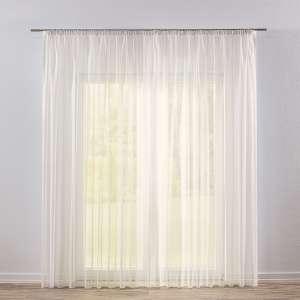 Záclona voálová jednoduchá s řasící páskou na míru 130 x 250 cm v kolekci Voile - Voál, látka: 901-01