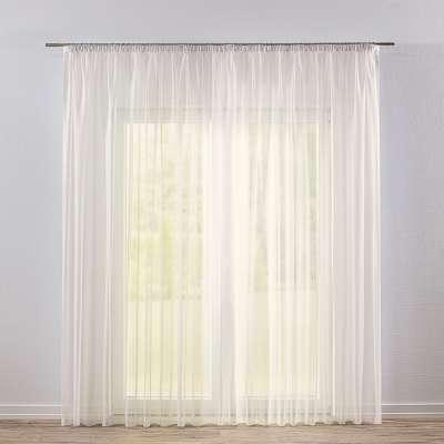 Pencil pleat voile/net curtain 901-01 ivory/lead hem Collection Voile