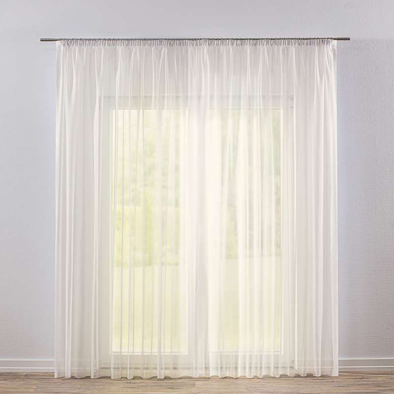 Pencil pleat voile/net curtain in collection Voile, fabric: 901-01