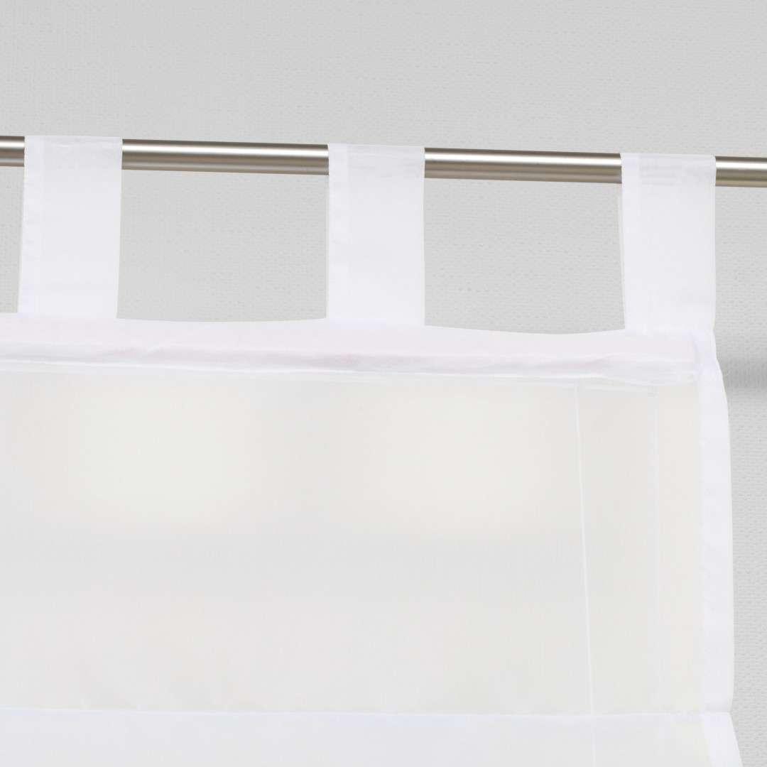 Foldegardin Palermo<br/>Med stropper til gardinstang 100 x 180 cm fra kollektionen Voile, Stof: 900-00