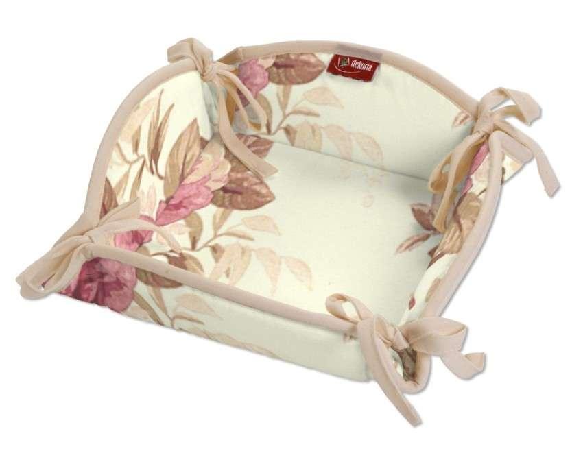Koszyk na pieczywo 20x20 cm w kolekcji Mirella, tkanina: 141-06