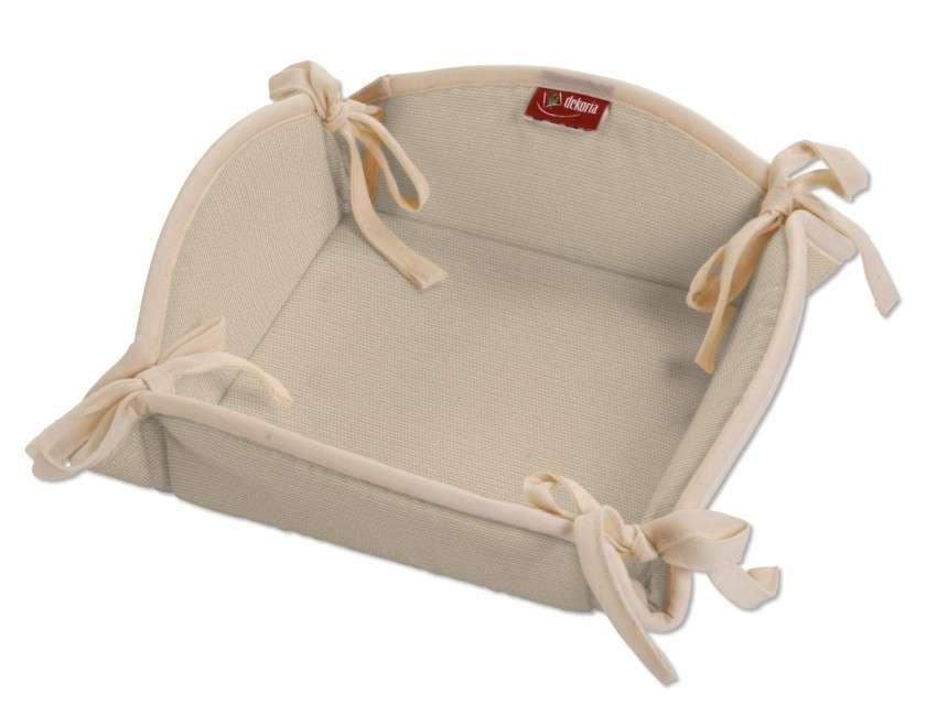 Koszyk na pieczywo 20x20 cm w kolekcji Cotton Panama, tkanina: 702-01