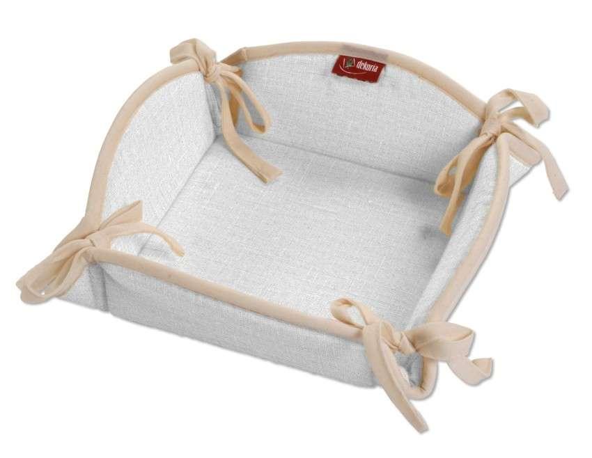 Košík na pečivo podle látek 20 x 20 cm v kolekci Linen, látka: 392-04