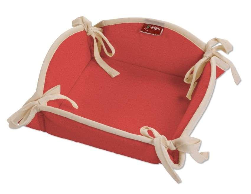 Koszyk na pieczywo 20x20 cm w kolekcji Loneta, tkanina: 133-43
