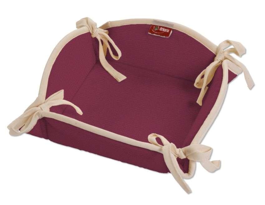 Koszyk na pieczywo 20x20 cm w kolekcji Cotton Panama, tkanina: 702-32