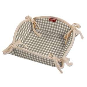 Koszyk na pieczywo 20x20 cm w kolekcji Quadro, tkanina: 136-05