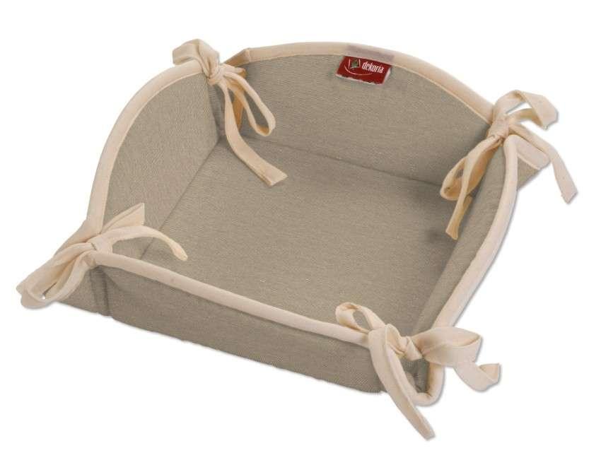 Koszyk na pieczywo 20x20 cm w kolekcji Quadro, tkanina: 136-09