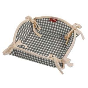 Koszyk na pieczywo 20x20 cm w kolekcji Quadro, tkanina: 136-10
