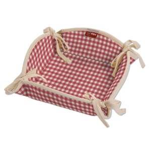 Koszyk na pieczywo 20x20 cm w kolekcji Quadro, tkanina: 136-15