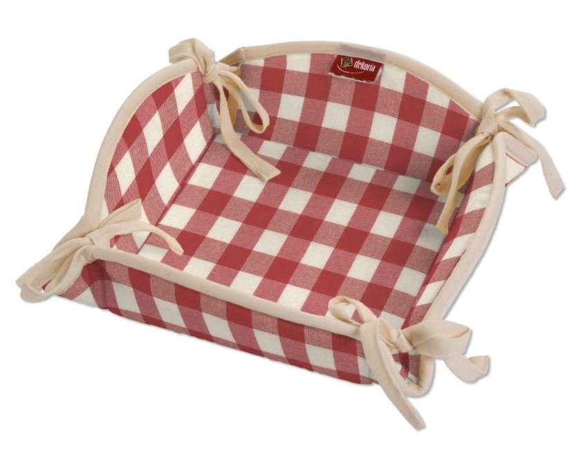 Koszyk na pieczywo 20x20 cm w kolekcji Quadro, tkanina: 136-16