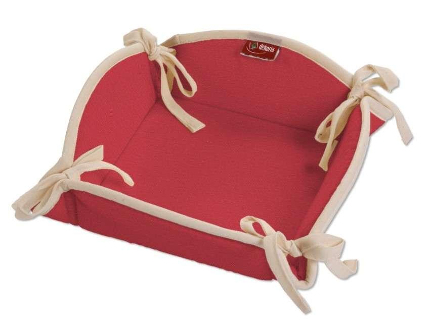 Koszyk na pieczywo 20x20 cm w kolekcji Quadro, tkanina: 136-19