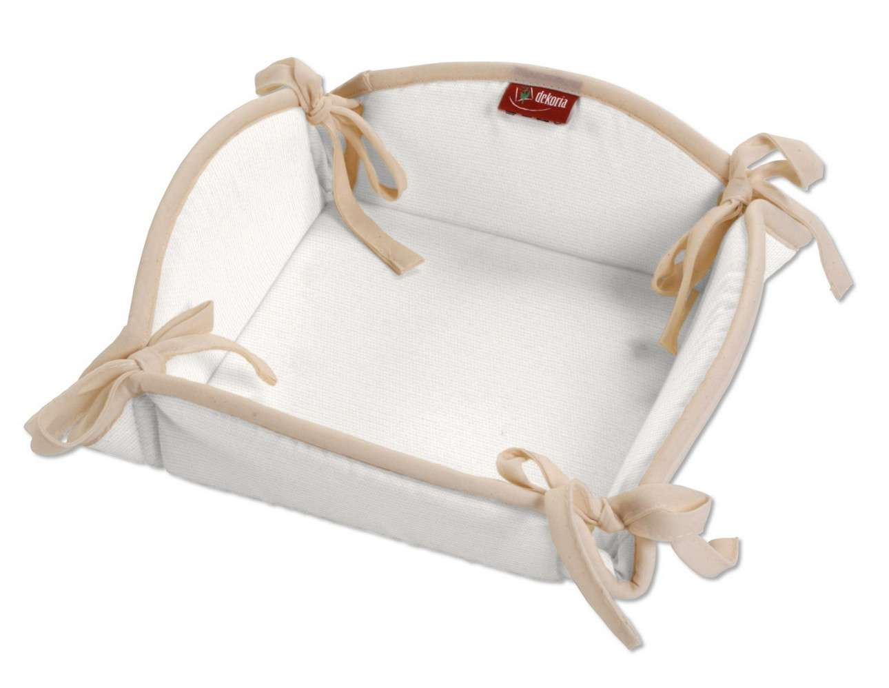 Koszyk na pieczywo 20x20 cm w kolekcji Cotton Panama, tkanina: 702-34
