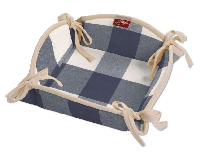 Koszyk na pieczywo 20x20 cm w kolekcji Quadro, tkanina: 136-03