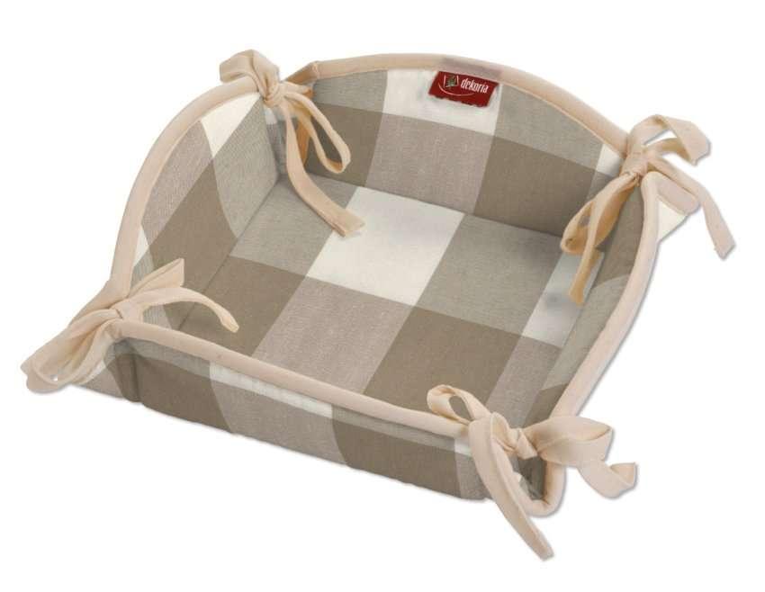 Koszyk na pieczywo 20x20 cm w kolekcji Quadro, tkanina: 136-08