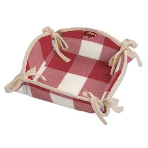 Koszyk na pieczywo 20x20 cm w kolekcji Quadro, tkanina: 136-18