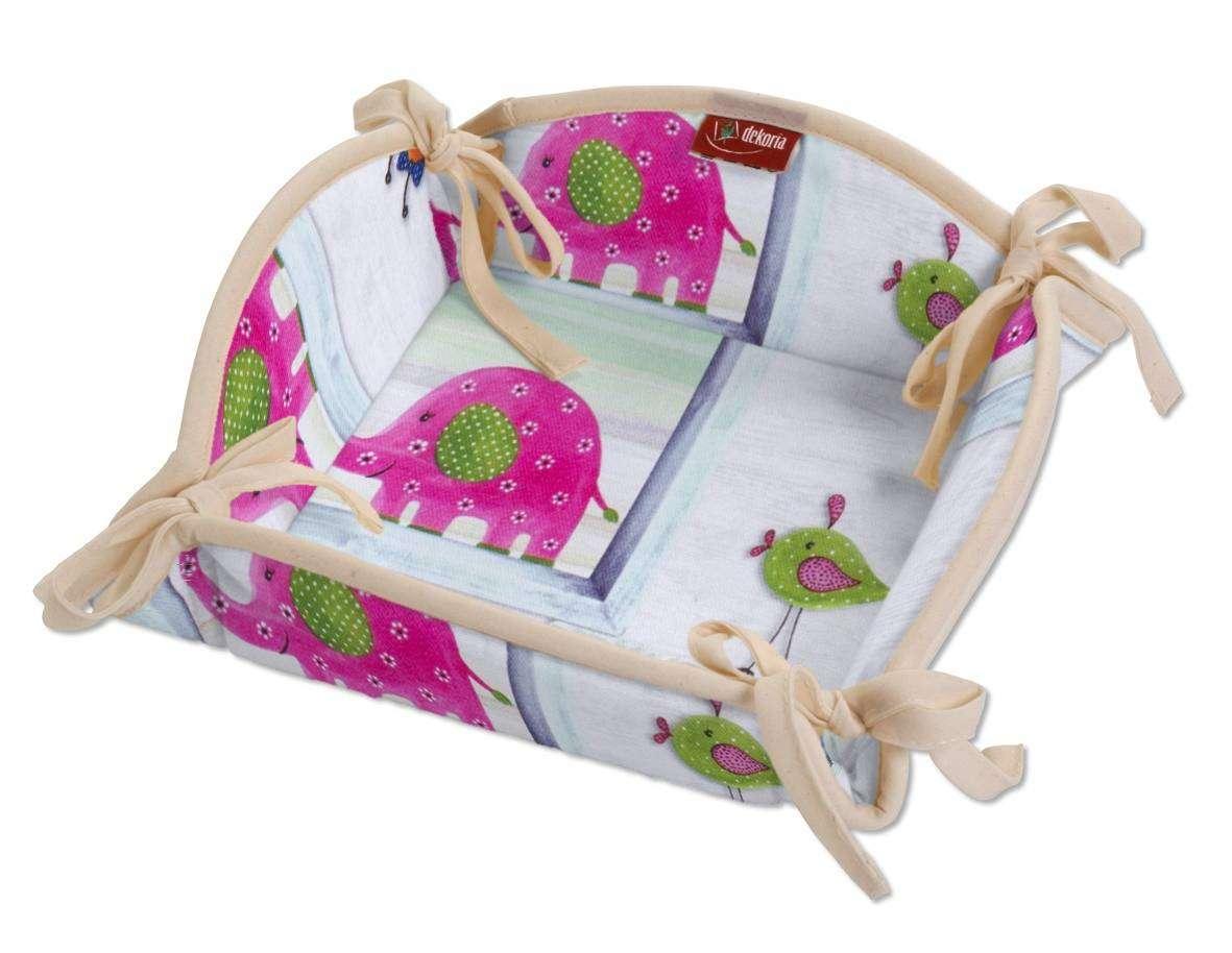 Koszyk na pieczywo 20x20 cm w kolekcji Apanona, tkanina: 151-04