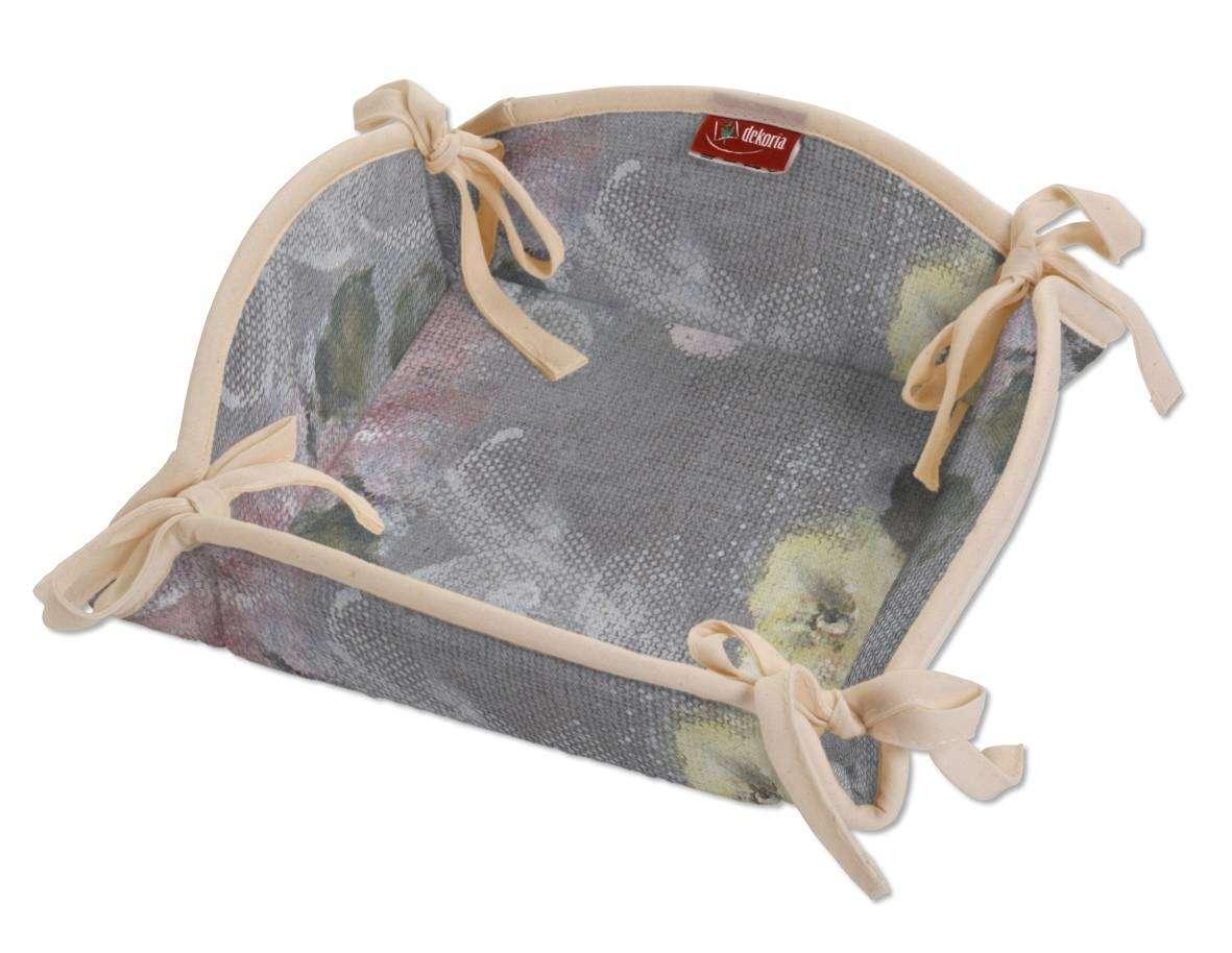 Koszyk na pieczywo 20x20 cm w kolekcji Monet, tkanina: 137-81