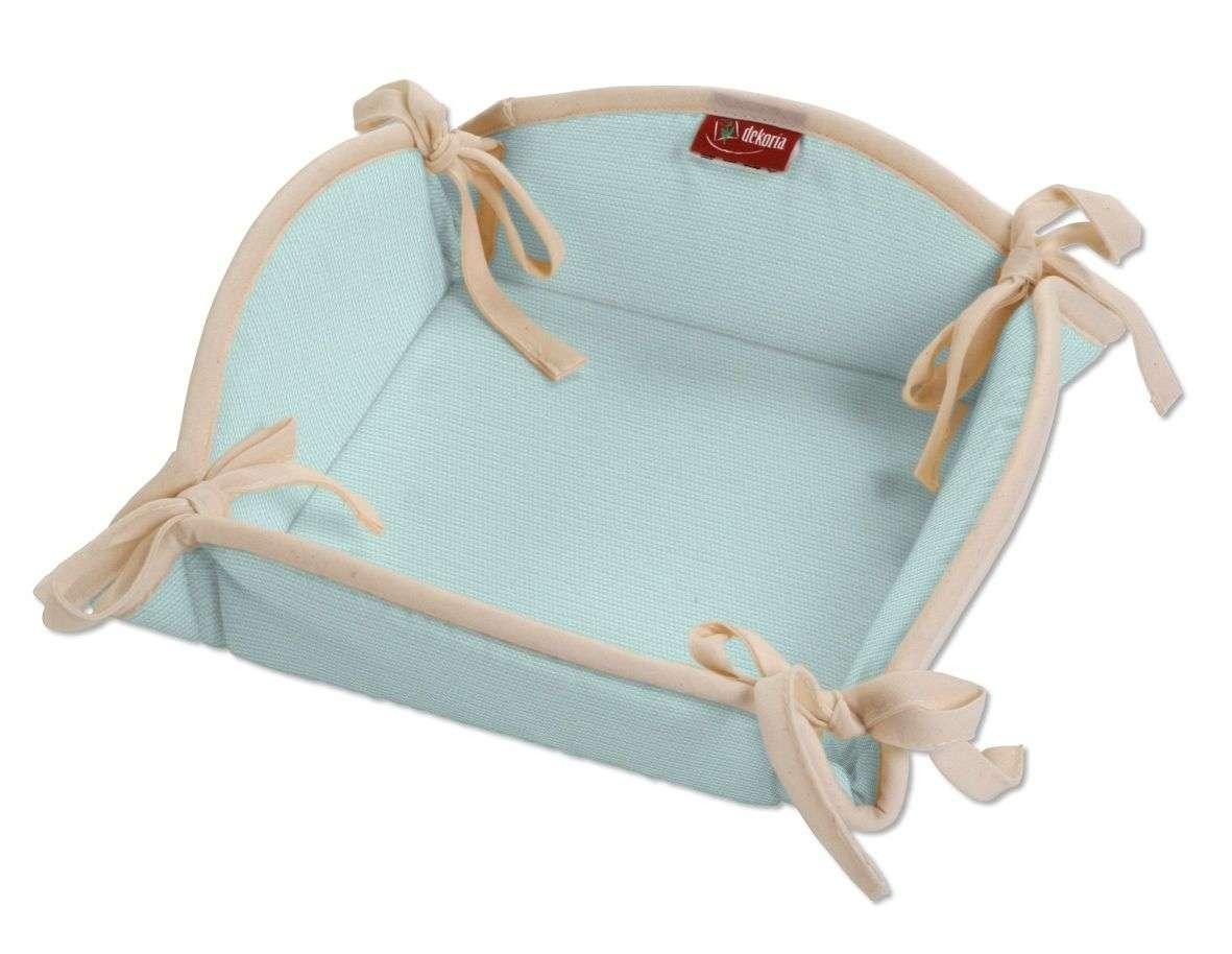 Koszyk na pieczywo 20x20 cm w kolekcji Cotton Panama, tkanina: 702-10