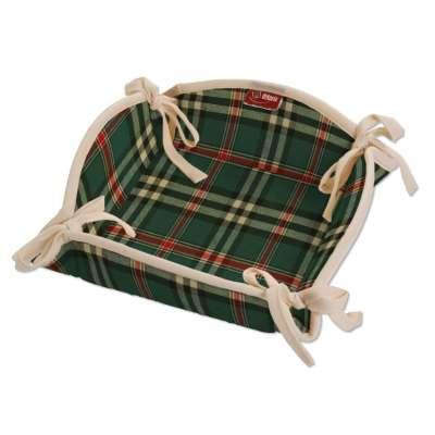Textilný košík 142-69 zeleno - červené káro Kolekcia Bristol