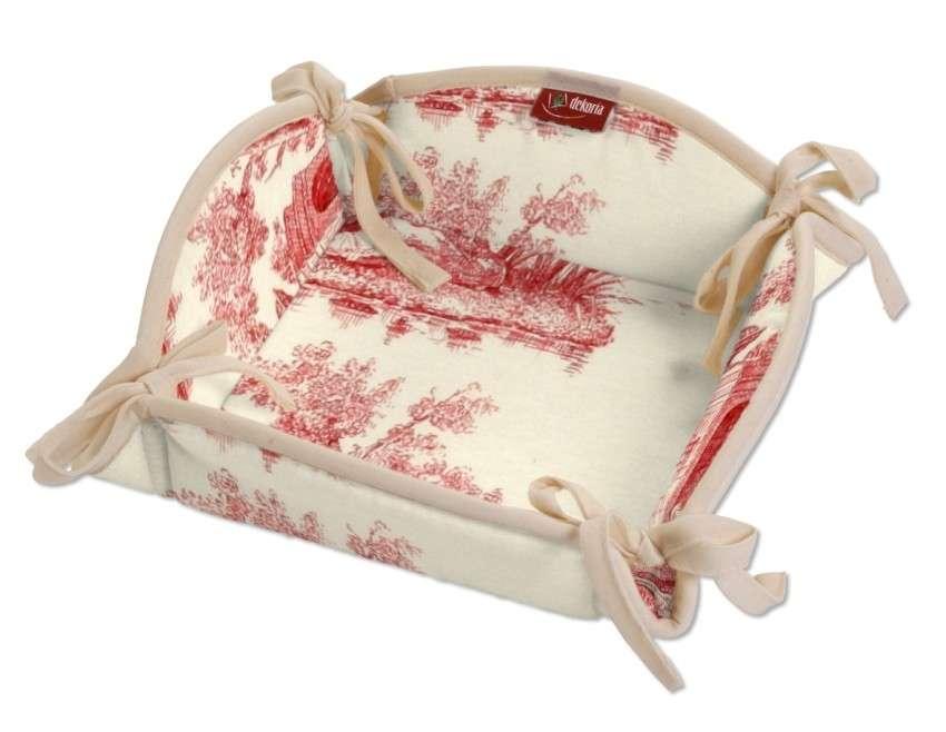 Koszyk na pieczywo 20x20 cm w kolekcji Avinon, tkanina: 132-15