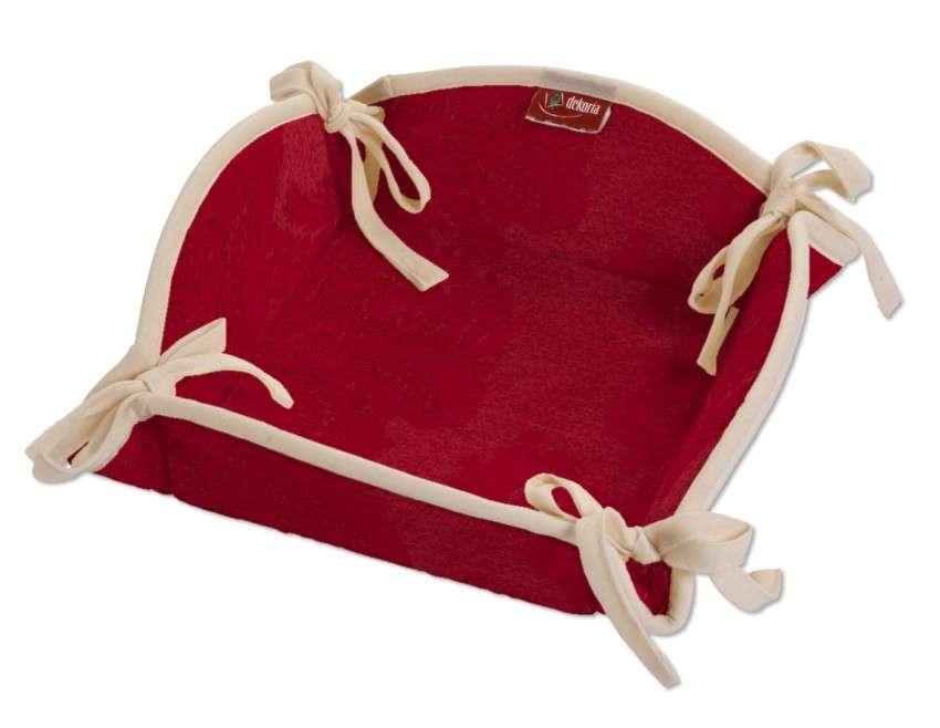 Koszyk na pieczywo 20x20 cm w kolekcji Damasco, tkanina: 613-13