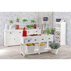 kommode brighton mit 4 schubladen und 4 t ren 236cmx55cmx95cm. Black Bedroom Furniture Sets. Home Design Ideas
