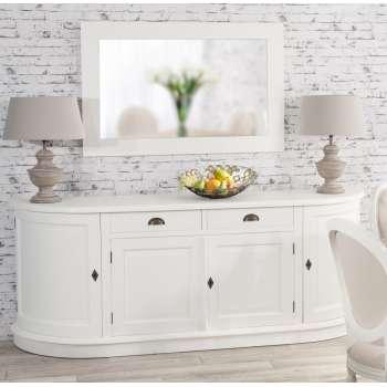 Komoda Brighton 4 drzwi + 2 szuflady white