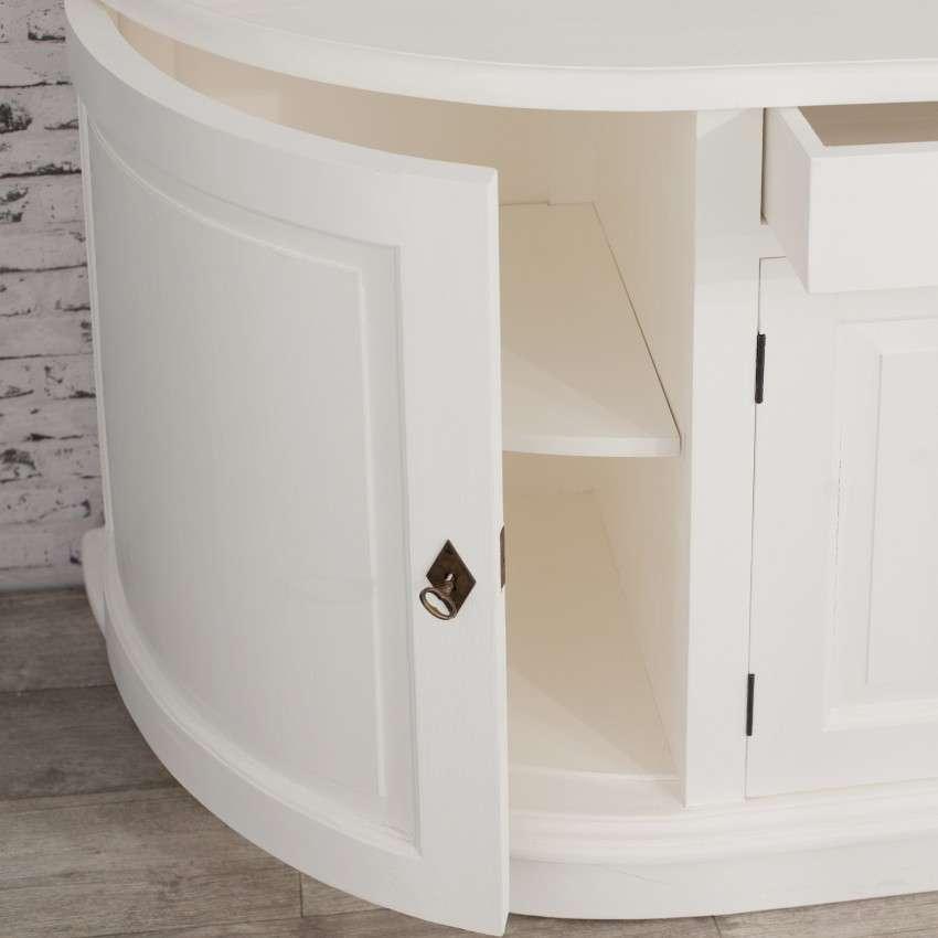 Komoda Brighton 4 drzwi + 2 szuflady white 210x50x86cm