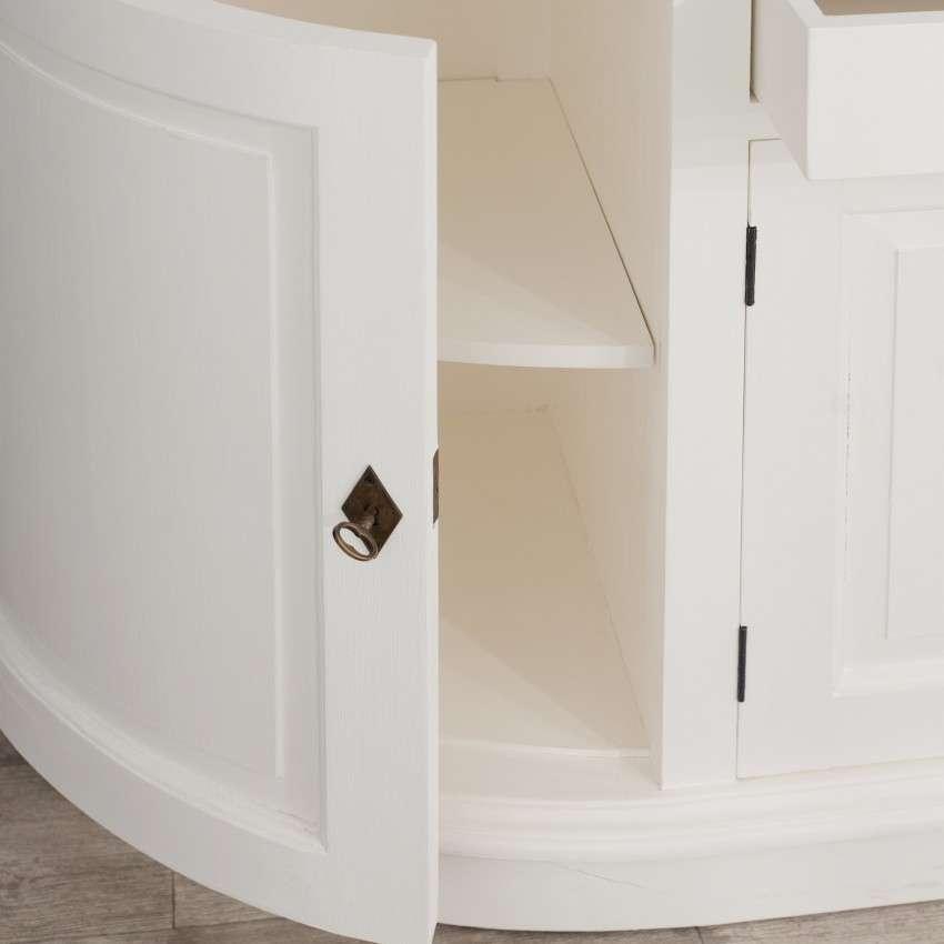 Komoda Brighton 4 drzwi + 2 szuflady white&natural 210x50x86cm
