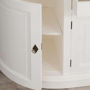 Kommode Brighton mit 2 Schubladen + 4 Türen white & natural 210cmx50cmx86cm