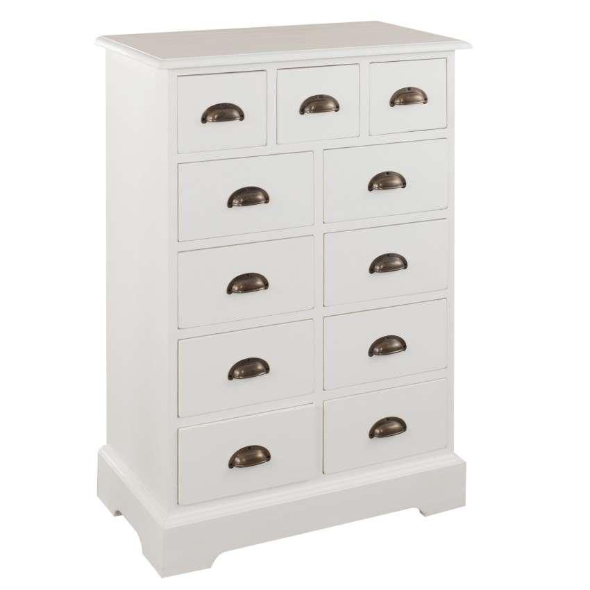 kommode brighton mit 11 schubladen 70cmx110cmx38cm dekoria. Black Bedroom Furniture Sets. Home Design Ideas