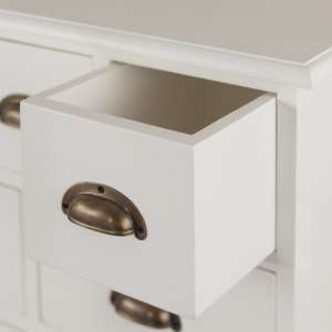 Komoda Brighton 11 szuflad white 70x110x38cm