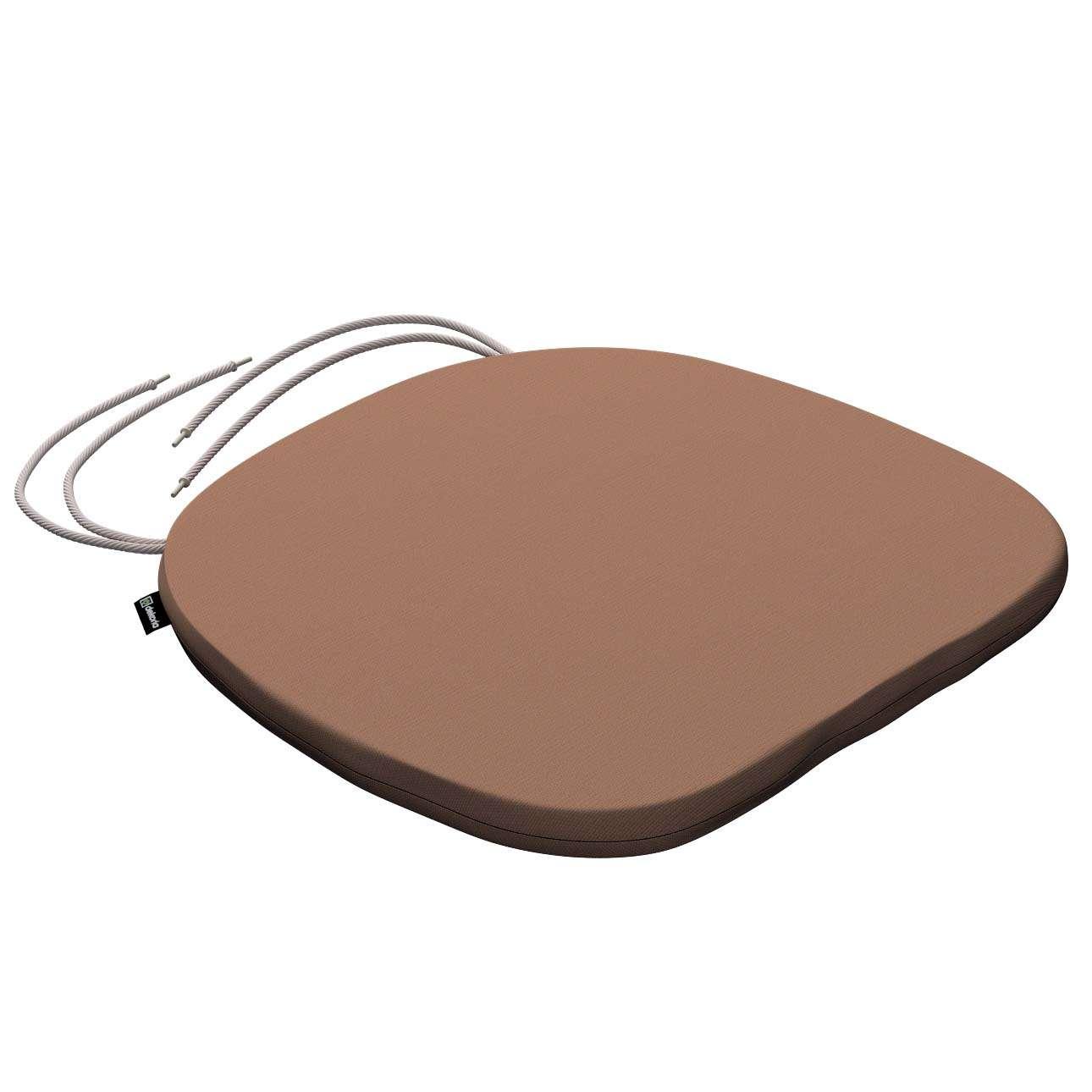 Stuhlkissen Marcus mit Bindeschnur 40 x 37 x 2,5 cm von der Kollektion Cotton Panama, Stoff: 702-02