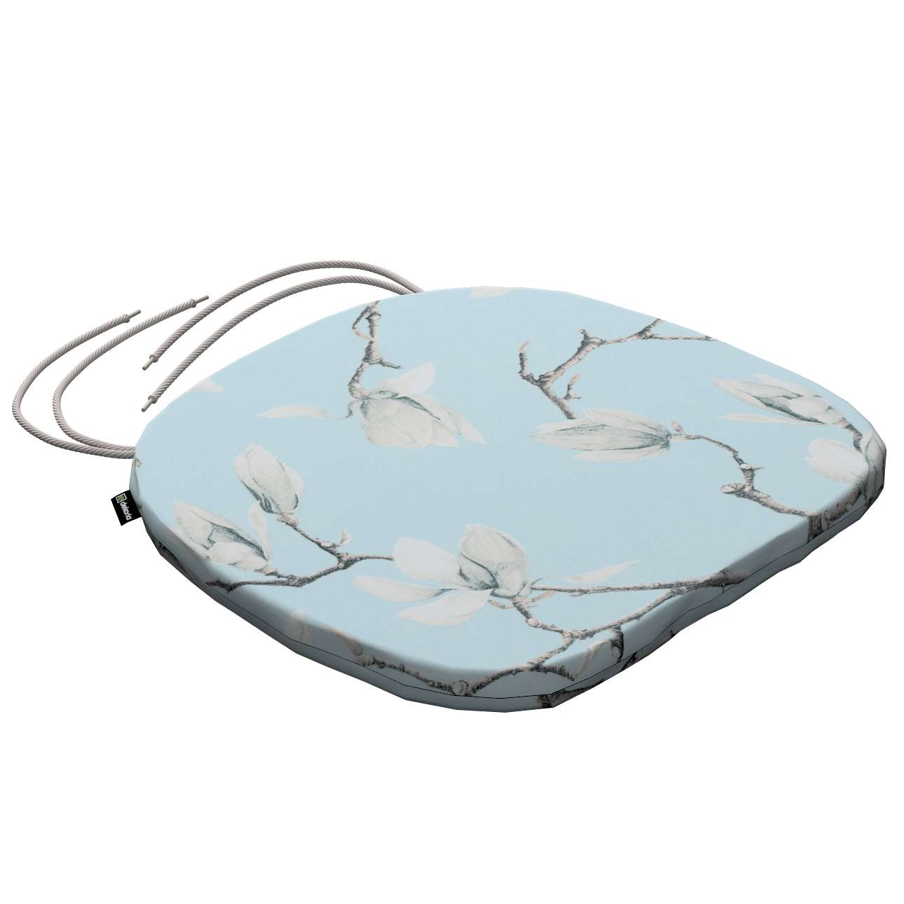 Bart seat pad with ties in collection Flowers, fabric: 311-14