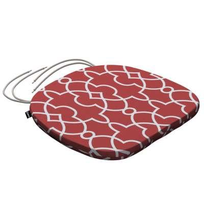 Siedzisko Bartek na krzesło 142-21 czerwony w biały marokański wzór Kolekcja Gardenia