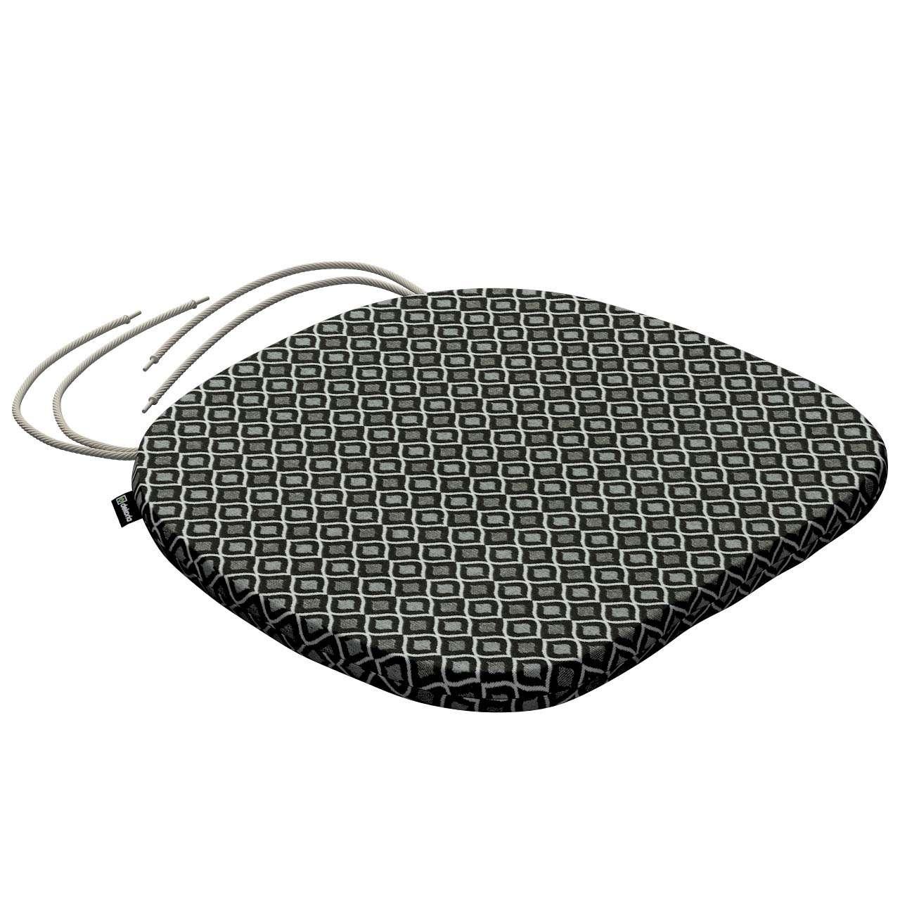 Sedák Bartek 40x37x2,5cm, bez prošití v kolekci Black & White, látka: 142-86