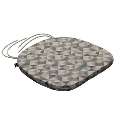 Bart seat pad with ties 142-84 grey- blue Collection SALE