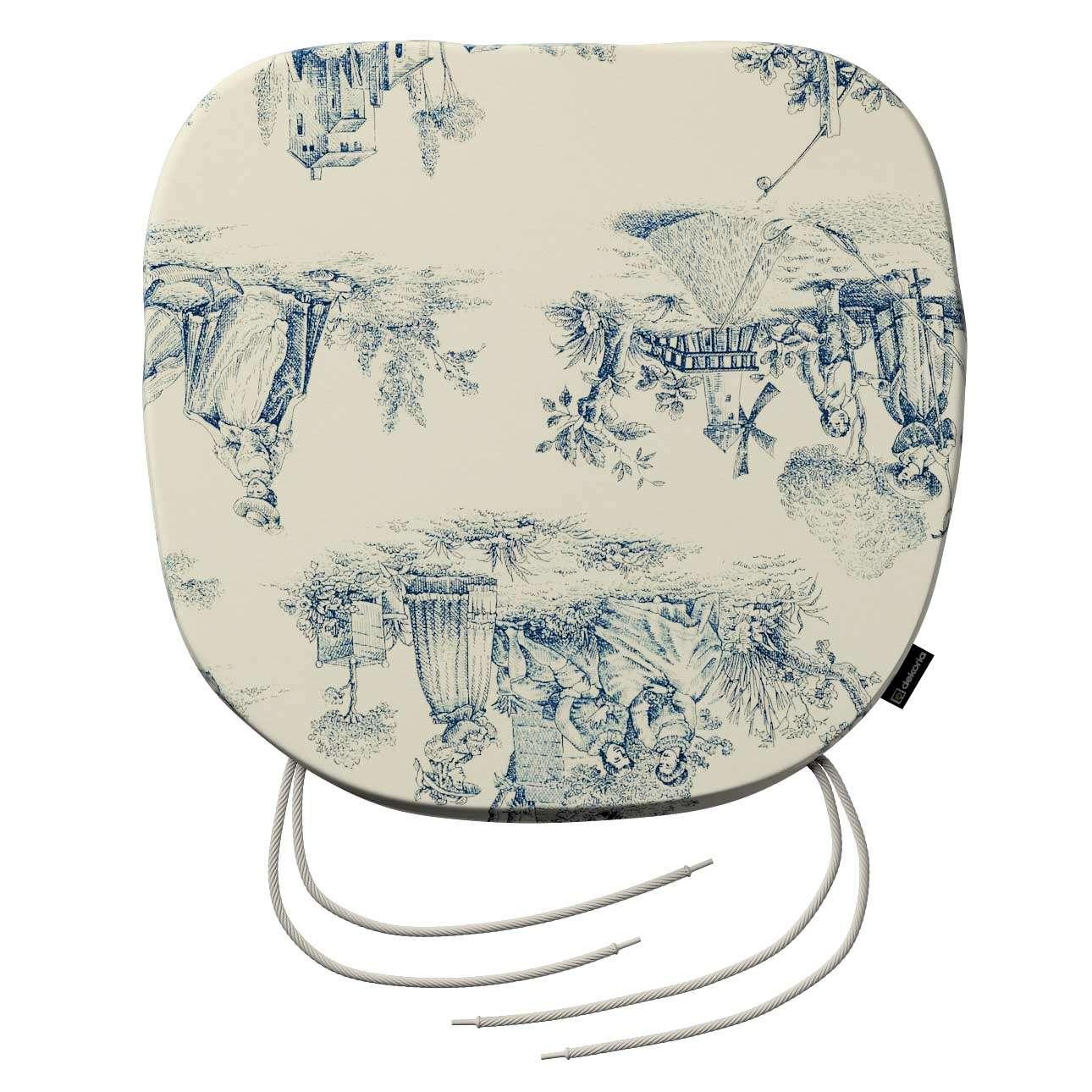 Siedzisko Bartek na krzesło 40x37x2,5cm w kolekcji Avinon, tkanina: 132-66