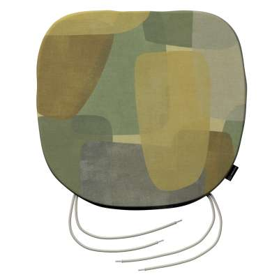 Siedzisko Bartek na krzesło 143-72 geometryczne wzory w zielono-brązowej kolorystyce Kolekcja Vintage 70's