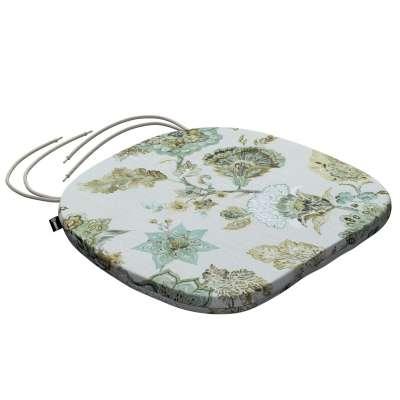 Siedzisko Bartek na krzesło 143-67 kwiaty na beżowo - szarym tle Kolekcja Flowers