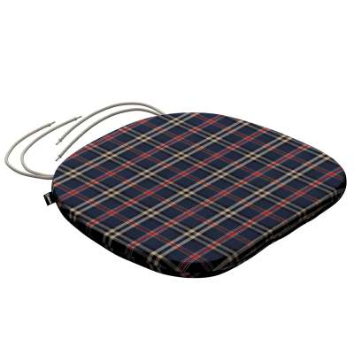 Bart seat pad with ties 142-68 dark blue and red check Collection Christmas