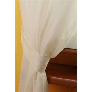 Victoria voile tieback 12 x 70 cm (5 x 27,5 inch) in collection Voile, fabric: 900-01