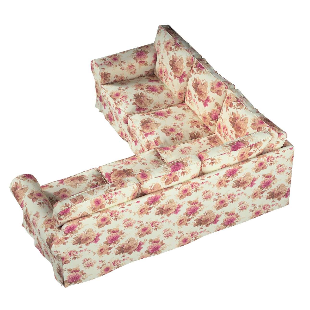 Pokrowiec na sofę narożną Ektorp w kolekcji Londres, tkanina: 141-06