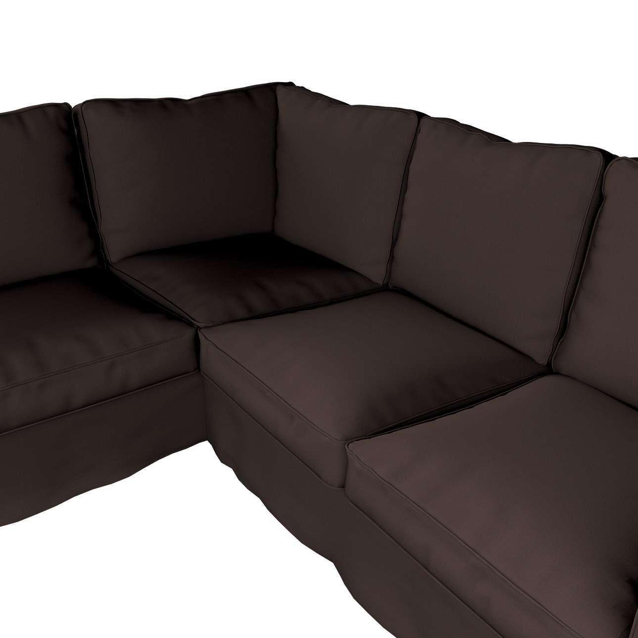 Pokrowiec na sofę narożną Ektorp w kolekcji Cotton Panama, tkanina: 702-03