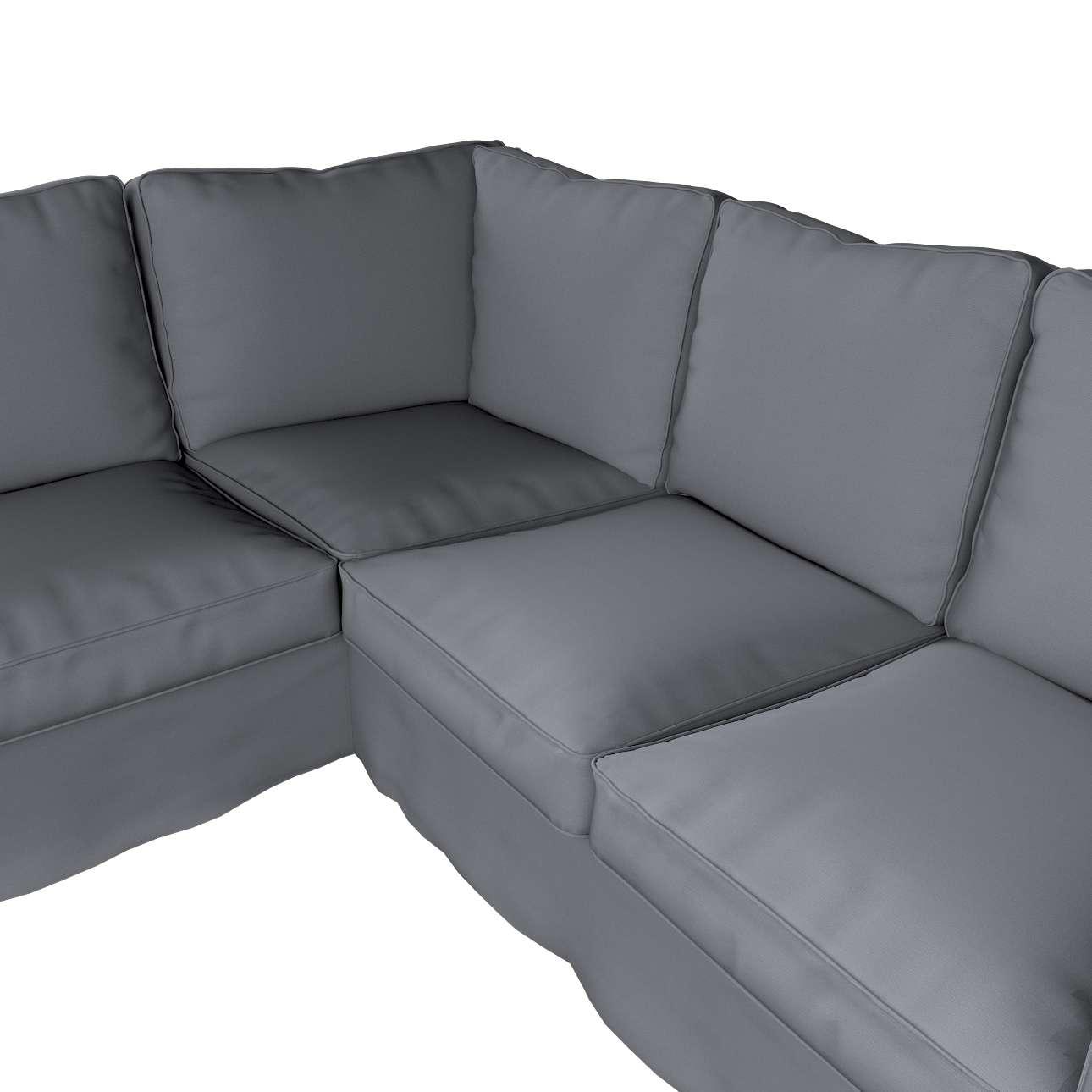 Pokrowiec na sofę narożną Ektorp w kolekcji Cotton Panama, tkanina: 702-07