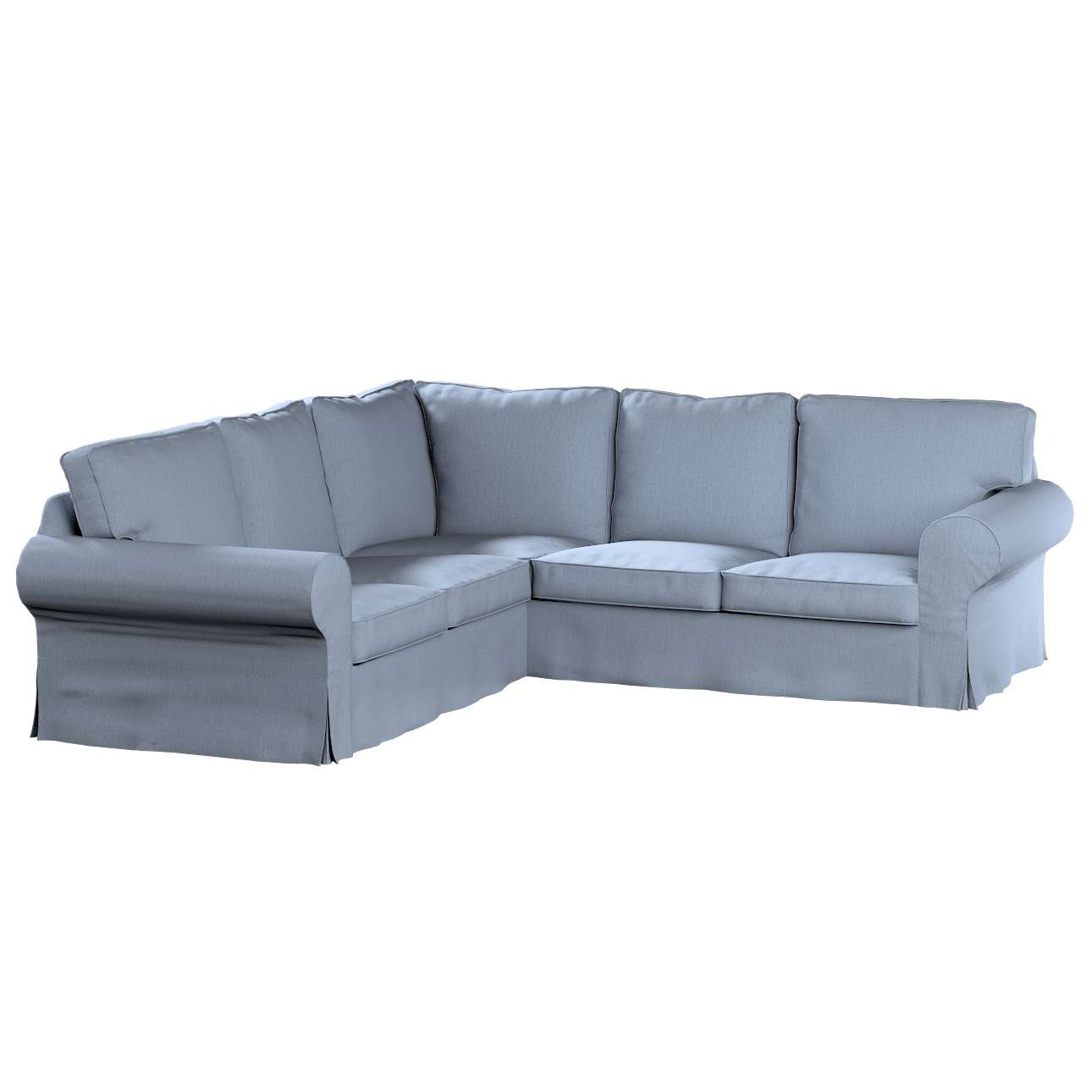 ektorp ecksofabezug silber blau sofahusse ektorp ecksofa chenille mtec metall. Black Bedroom Furniture Sets. Home Design Ideas