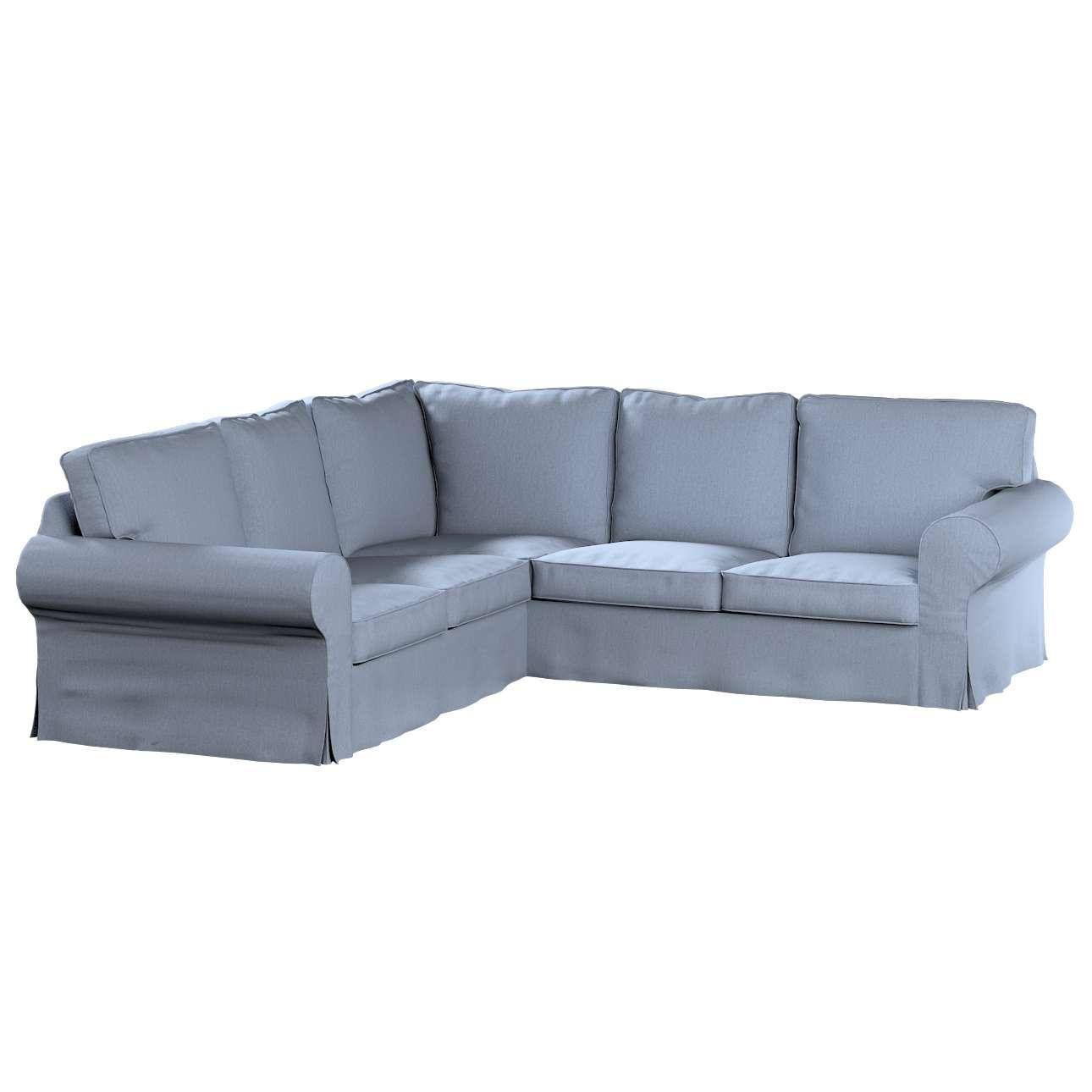 Pokrowiec na sofę narożną Ektorp w kolekcji Chenille, tkanina: 702-13