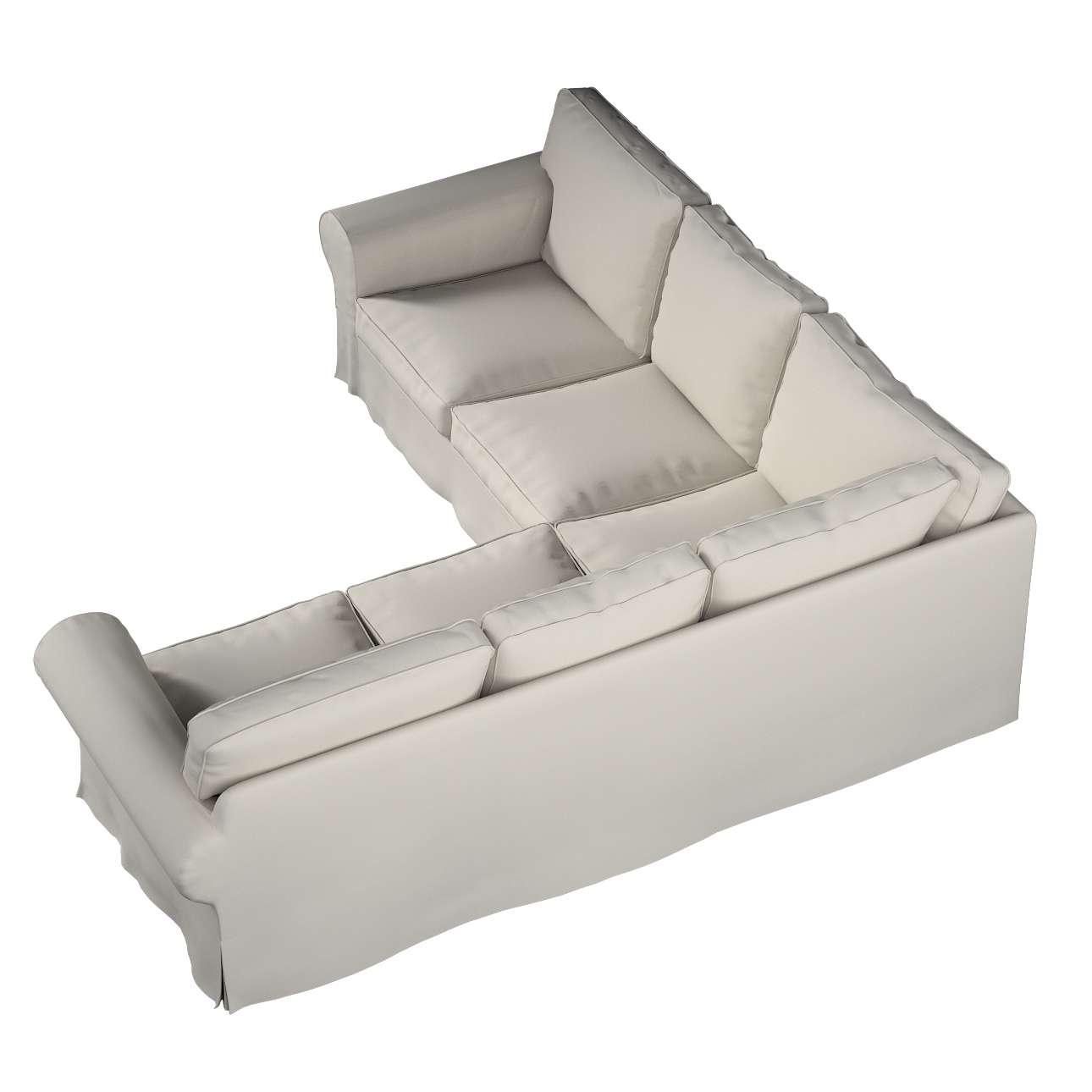 Pokrowiec Ektorp na sofę narożną w kolekcji Cotton Panama, tkanina: 702-31